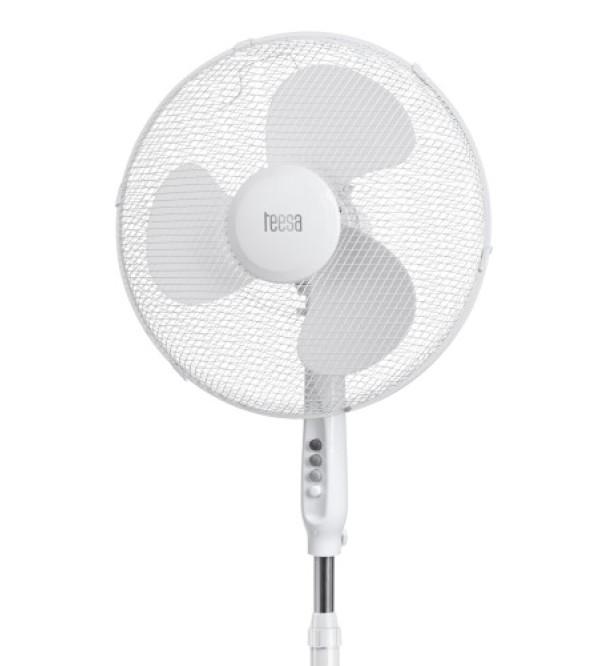 TEESA 45W/TSA8022 - Stojanový otočný ventilátor biely