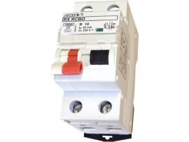 Prúdový chránič RX RCBO 2P B 10A / 100 mA