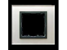 Rámček 1 - násobný sklenený sivá / grafit