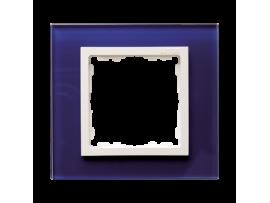 Rámček 1 - násobný sklenený morský / biela