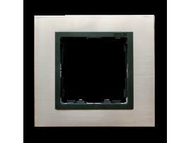 Rámček 1- násobný oceľ inox / grafit