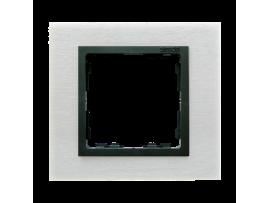 Rámček 1 - násobný kovový inox mat / grafit