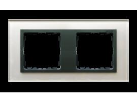 Rámček 2- násobný sklenený sivá / grafit