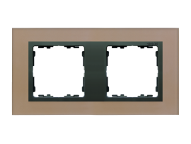 Rámček 2- násobný sklenený meď / grafit