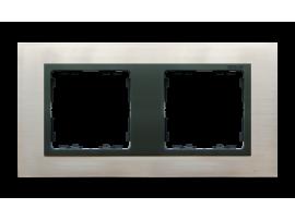 Rámček 2- násobný oceľ inox / grafit
