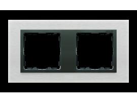 Rámček 2- násobný kovový inox mat / grafit