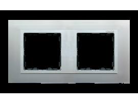 Rámček 2- násobný hliník / hliník mat