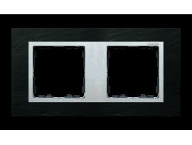 Rámček 2- násobný bridlica / hliník