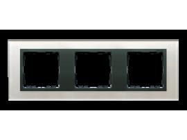 Rámček 3 - násobný sklenený sivá / grafit