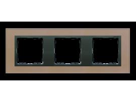 Rámček 3 - násobný sklenený meď / grafit