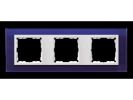 Rámček 3 - násobný sklenený morský / biela