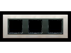 Rámček 3- násobný oceľ inox / grafit