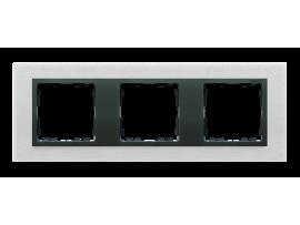 Rámček 3- násobný kovový inox mat / grafit