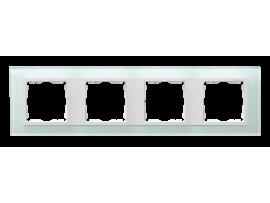 Rámček 4 - násobný sklenený prírodný / biala