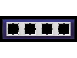 Rámček 4 - násobný sklenený morský / biela