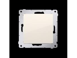 Jednopólový spínač, radenie č. 1 (prístroj s krytom) 10AX 250V, skrutkové svorky, krémová
