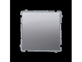 Striedavý prepínač, radenie č. 6 bez piktogramu (prístroj s krytom) 10AX 250V, pružinové svorky, nerez, metalizovaný