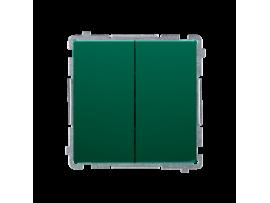 Sériový spínač, radenie č. 5 (prístroj s krytom) 10AX 250V, pružinové svorky, zelený