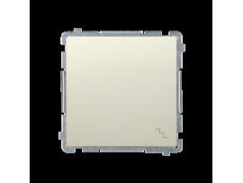 Striedavý prepínač, radenie č. 6 (prístroj s krytom) 10AX 250V, pružinové svorky, béžový