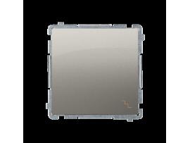 Striedavý prepínač, radenie č. 6 (prístroj s krytom) 10AX 250V, pružinové svorky, saténový, metalizovaný