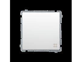 Krížový prepínač, radenie č. 7 (prístroj s krytom) 10AX 250V, skrutkové svorky, biela