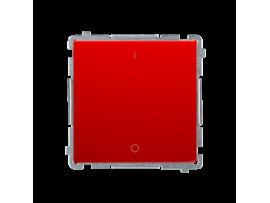 Dvojpólový spínač, radenie č. 2S (prístroj s krytom) 10AX 250V, pružinové svorky, červený