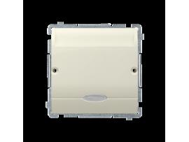 Hotelový kartový spínač s orientačným podsvietením farba: modrá (prístroj s krytom) 10A (2A) 250V, zásuvka iné, béžový