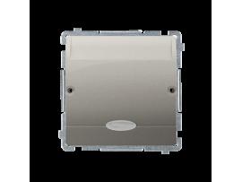 Hotelový kartový spínač s orientačným podsvietením farba: modrá (prístroj s krytom) 10A (2A) 250V, zásuvka iné, saténový, metalizovaný