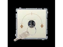 Spínač na kľúčik žalúziový (tlačidlo) (prístroj s krytom) 5A 250V, pre spájkovanie, béžový