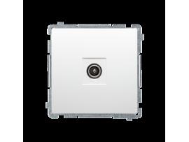 Anténová zásuvka R-TV koncová oddelená biela