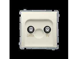 Anténna zásuvka DATA-TV tlm.:5dB béžový