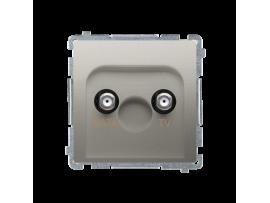 Anténna zásuvka DATA-TV tlm.:5dB saténový, metalizovaný