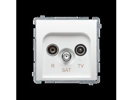Anténná zásuvka R-TV-SAT priechodná tlm.:10dB biela