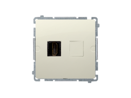 Zásuvka HDMI jednoduchá béžový