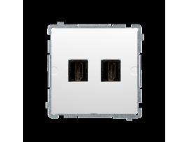 Zásuvka HDMI dvojitá biela