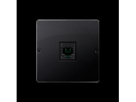 STIAHNUTÝ Z PONUKY telefonická zásuvká RJ11 jednoduchá (prístroj s krytom) grafit mat. metalizovaný