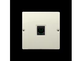 STIAHNUTÝ Z PONUKY telefonická zásuvká RJ11 jednoduchá (prístroj s krytom) béžový