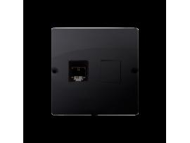 Telefonická zásuvká RJ11 jednoduchá (prístroj s krytom) grafit mat. metalizovaný