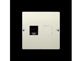 Telefonická zásuvká RJ11 jednoduchá (prístroj s krytom) béžový