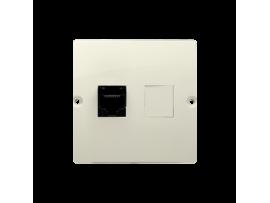 Počitačová zásuvka RJ45 jednoduchá, kategórie 5e (prístroj s krytom) béžový