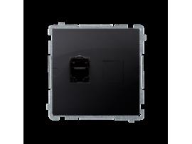 Jednoduchá tienená počítačová zásuvká RJ45 kategórie 6 s protiprachovou clonou (prístroj s krytom) grafit mat. metalizovaný