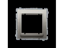 Adaptér pre montáž štandardu 45×45 mm saténový, metalizovaný