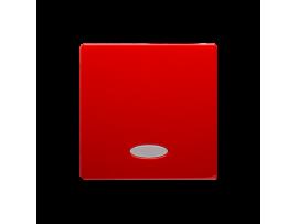 Kryt jednoduchý priezorom pre spínače a tlačidlá s orientačným podsvietením červený