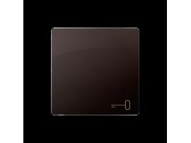 Kryt jednoduchý pre spínače a tlačidlá čokoládový mat. metalizovaný