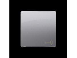 Kryt jednoduchý pre spínače a tlačidlá nerez, metalizovaný