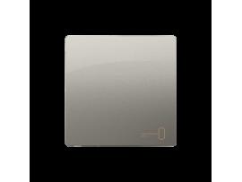 Kryt jednoduchý pre spínače a tlačidlá saténový, metalizovaný