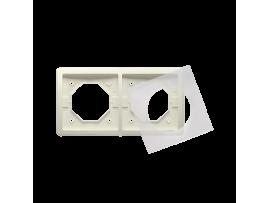 Rámček 2 - násobný IP44 béžový