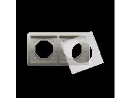 Rámček 2 - násobný IP44 saténový, metalizovaný