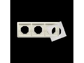 Rámček 3 - násobný IP44 béžový