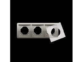 Rámček 3 - násobný IP44 saténový, metalizovaný